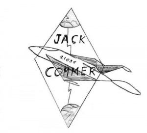 The Official Jack Commer Space Stories Logo, ca. 1965 copyright 2015 Michael D. Smith