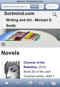 The new improved sortmind.com's Novels page