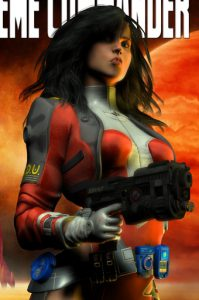 Amav, cropped from cover of Jack Commer, Supreme Commander - art by Deron Douglas